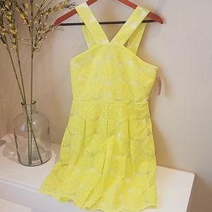 Daniel Cremieux Daisy Yellow Dress, NWT